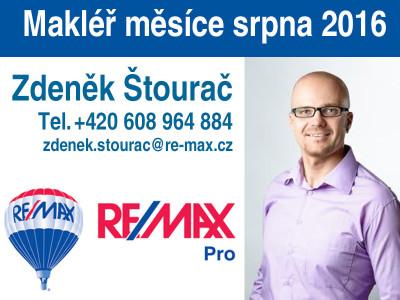 Zdeněk Štourač, makléř měsíce srpna 2016 kanceláře RE/MAX Pro