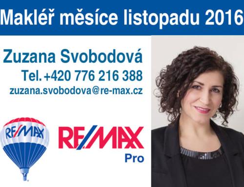 Zuzana Svobodová byla oceněna za makléře měsíce