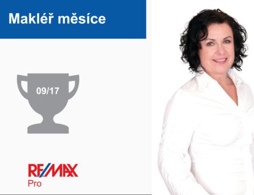 Lenka Maděřičová – makléř měsíce září 2017