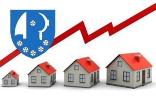vývoj cen nemovitostí Komín