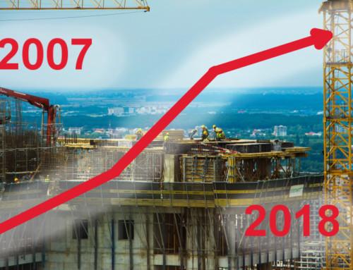 Vývoj cen novostaveb v Brně v letech 2007 až 2018